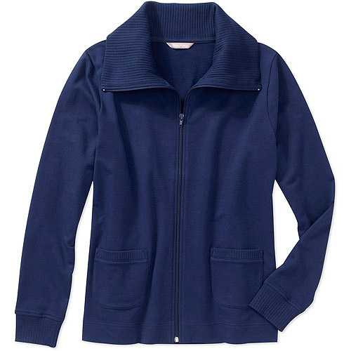 White Stag Women's French Terry Zip Front Jacket