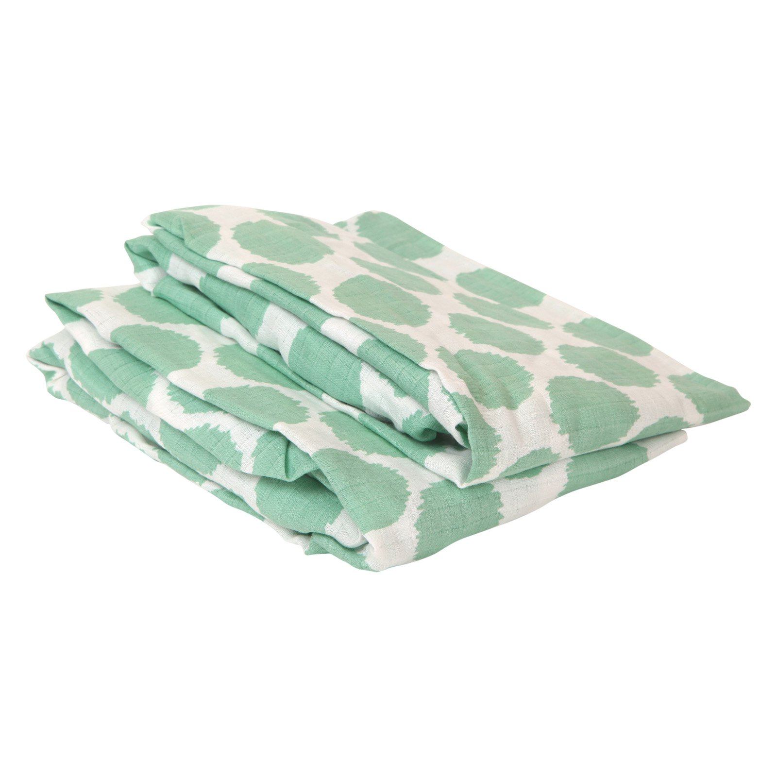 Bacati Ikat Dots Muslin Crib Sheet - Set of 2