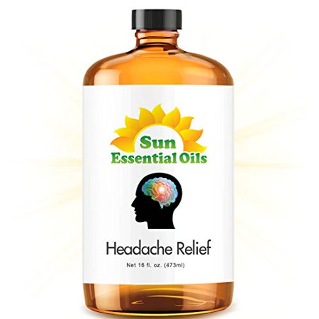 Headache Relief Blend   Mega 16Oz Best Essential Oil  Compare To Doterra Pasttense   Young Living M Grain  Head Ease   Lavender  Peppermint  Wintergreen  Basil  Frankincense  Rosemary   More