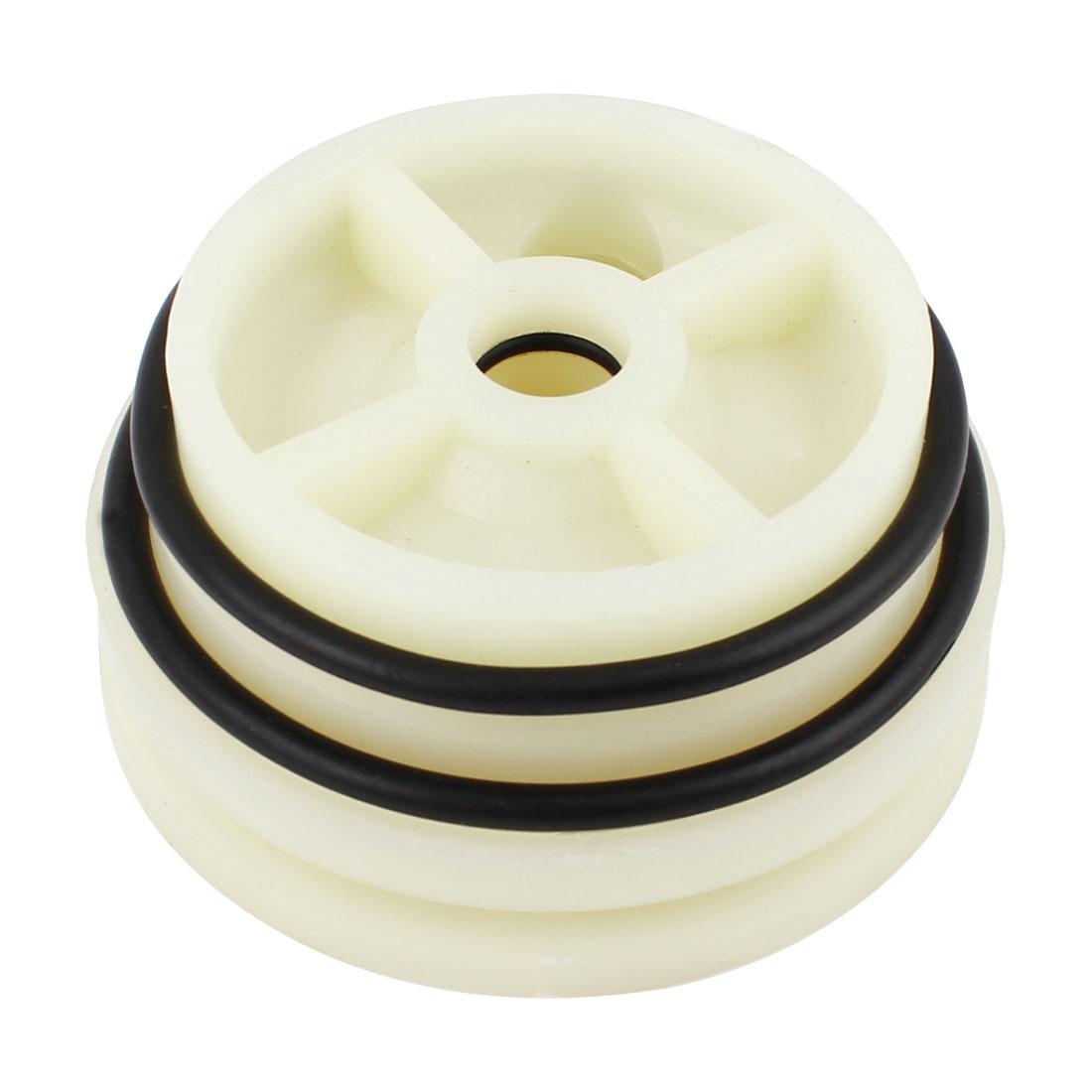 "Unique Bargains Beige 95mm 4"" Diameter Reverse Osmosis O Ring Nylon RO Membrane Housing End Cap"