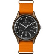 Timex TW2T10200 MK1 Men's Analog Round Aluminum Watch Orange Nylon Strap