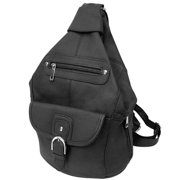 Silver Fever Genuine Leather Backpack Purse Sling Organizer