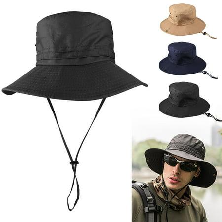 Unisex Mens Women Boonie Bucket Hat Cap Cotton Fisherman Cap Military Hunting Safari Hiking
