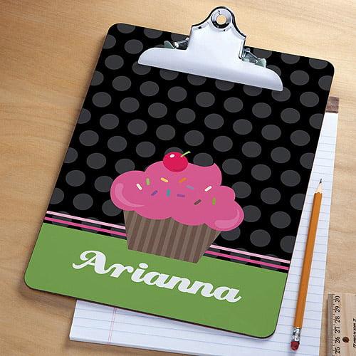 Personalized Cute Cupcake Clipboard