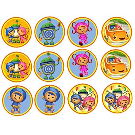 12 Team UmiZoomi Edible Image Sheets Cupcake and Cookie Toppers (Prem - Team Umizoomi Birthday Supplies