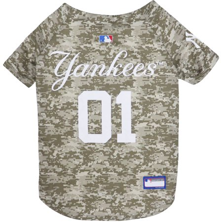 7845f7e9a Pets First MLB New York Yankees Camouflage Jersey For Dogs