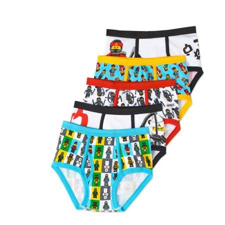 Lego Ninjago Boys' Underwear, 5 Pack