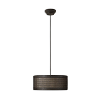 Pendants 3 Light With Semi Matte Black Finish Metal Fabric Glass Material 22 inch 180 Watts