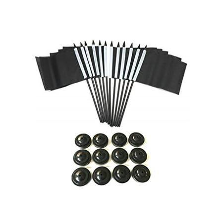BOX of 12 Solid Black 4