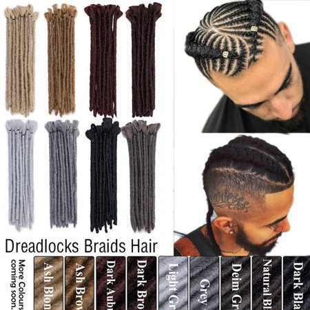 S Noilite 12 Soft Dreadlock Extension For Men Handmade Synthetic