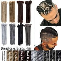 "S-noilite 12"" Soft Dreadlock Extension for Men Handmade Synthetic Dreads Faux Locs Crochet Twist Braiding Ponytail Bun Reggae Hippie Culture Male Hairpiece Coffee Brown,25g"