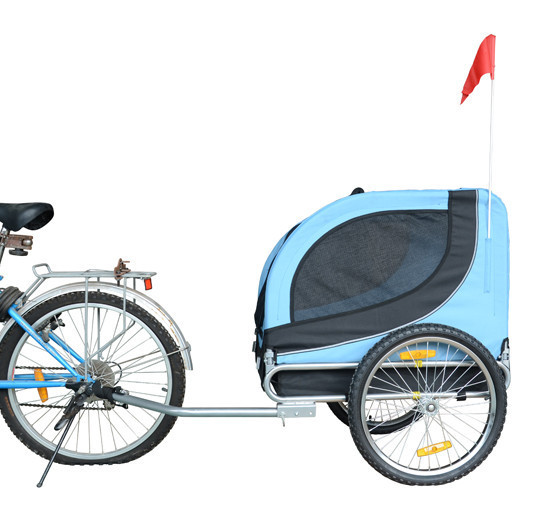 MDOG2 MK0001-BLU Comfy MK0001 Pet Bike Trailer - Blue/Black