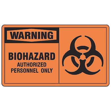 Safety Label,5 In. W,3-1/2 In. H,PK5 ACCUFORM LBHZ302VSP