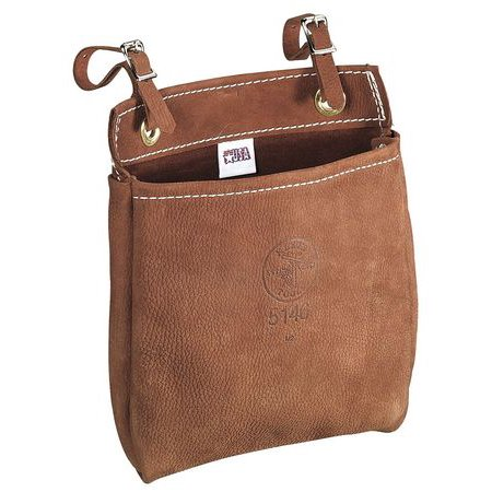 Klein Tools All Purpose Bag, Leather, Brown, 5146