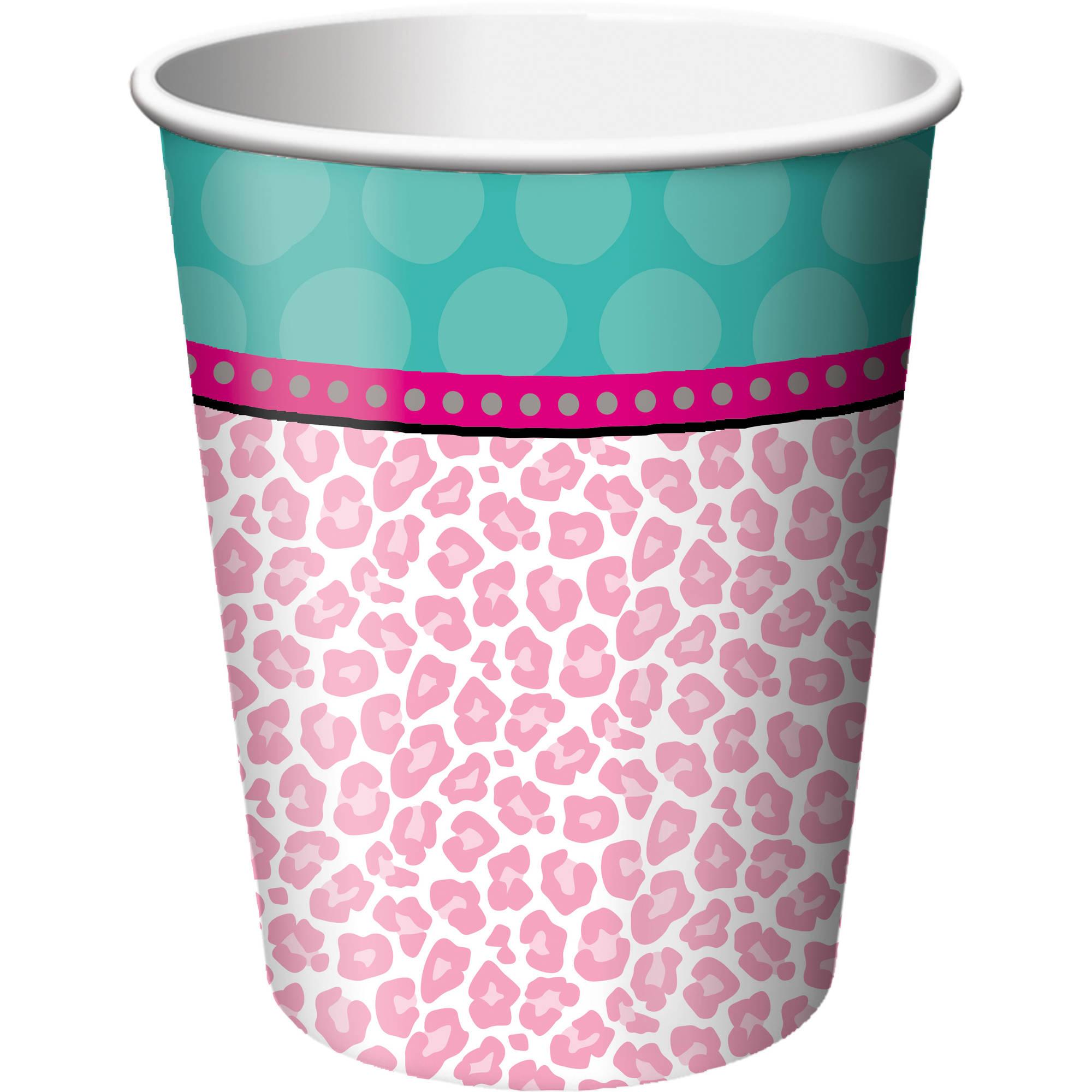 Sparkle Spa Party 9 oz Cups, 8pk