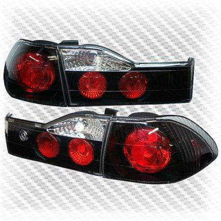 For 2001-2002 Honda Accord 4 Door Sedan Black Tail Lights Rear Brake Lamp  Pair Left+Right