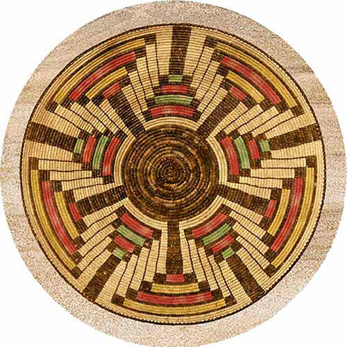 Thirstystone Drink Coasters Set, Indian Basket