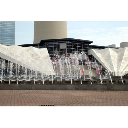 Canvas Print Center Architecture Berlin City Water Fountain Stretched Canvas 10 x 14