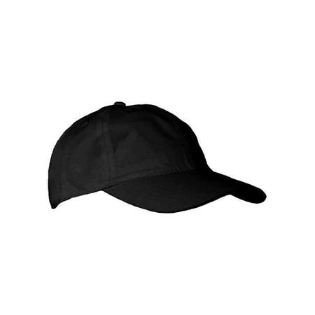 Ed Garments Six Panels Adjustable Velcro Ball Cap, BLACK, One size - Black Bald Cap