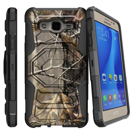 Samsung Galaxy On5 Case | Galaxy On5 Phone Case [ Armor Reloaded ] Extreme Rugged Cell Phone Cover with Kickstand and Belt Clip - Fallen Leaves Camo