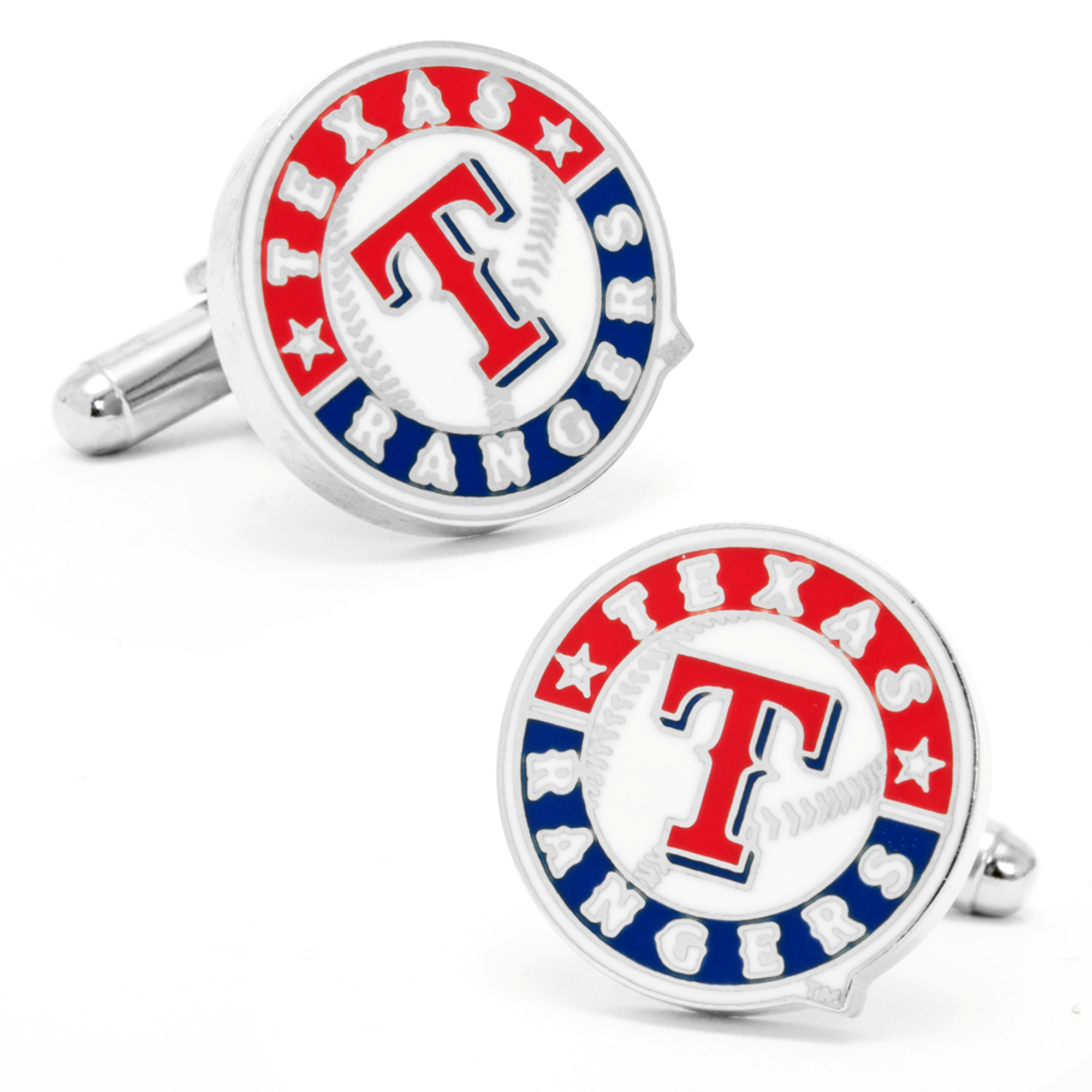 MLB Mens Texas Rangers Cufflinks with Collectible Gift Box PD-TXR-SL NEW