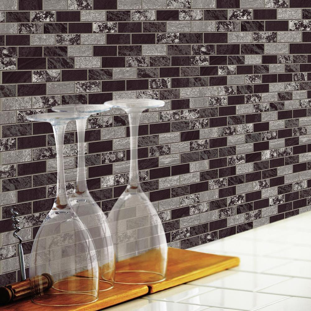 RoomMates Traditional Marble StickTILES, 4-Pack