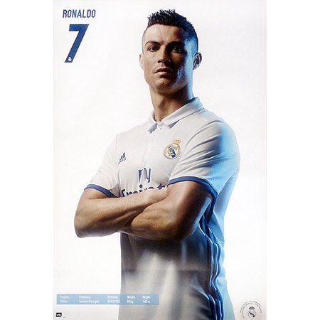 Real Madrid   Sports Poster   Print  Cristiano Ronaldo  7 Posing   Size  24  X 36
