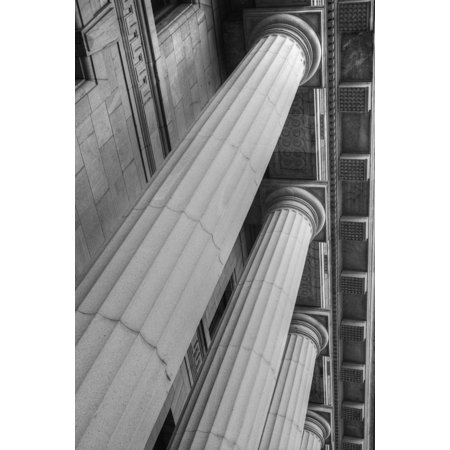 Columns On Quebec Court Of Appeals Building Montreal Quebec Canada Posterprint