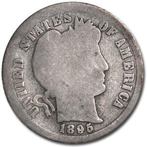- 1895-S Barber Dime Good