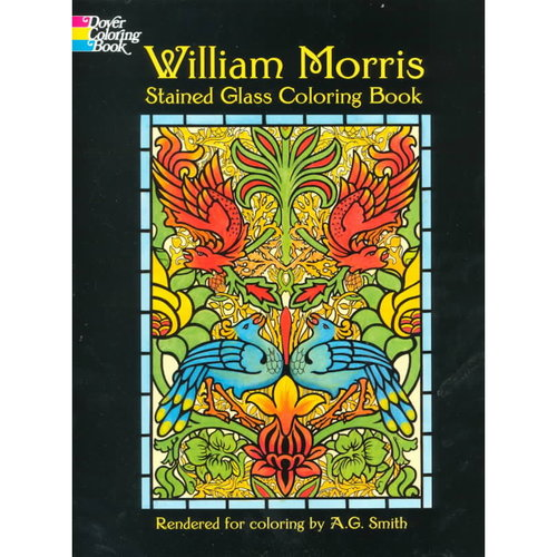 William Morris Stained Glass Coloring Book
