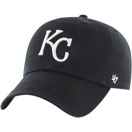 Kansas City Royals '47 Black Out Franchise Fitted Hat - Black -