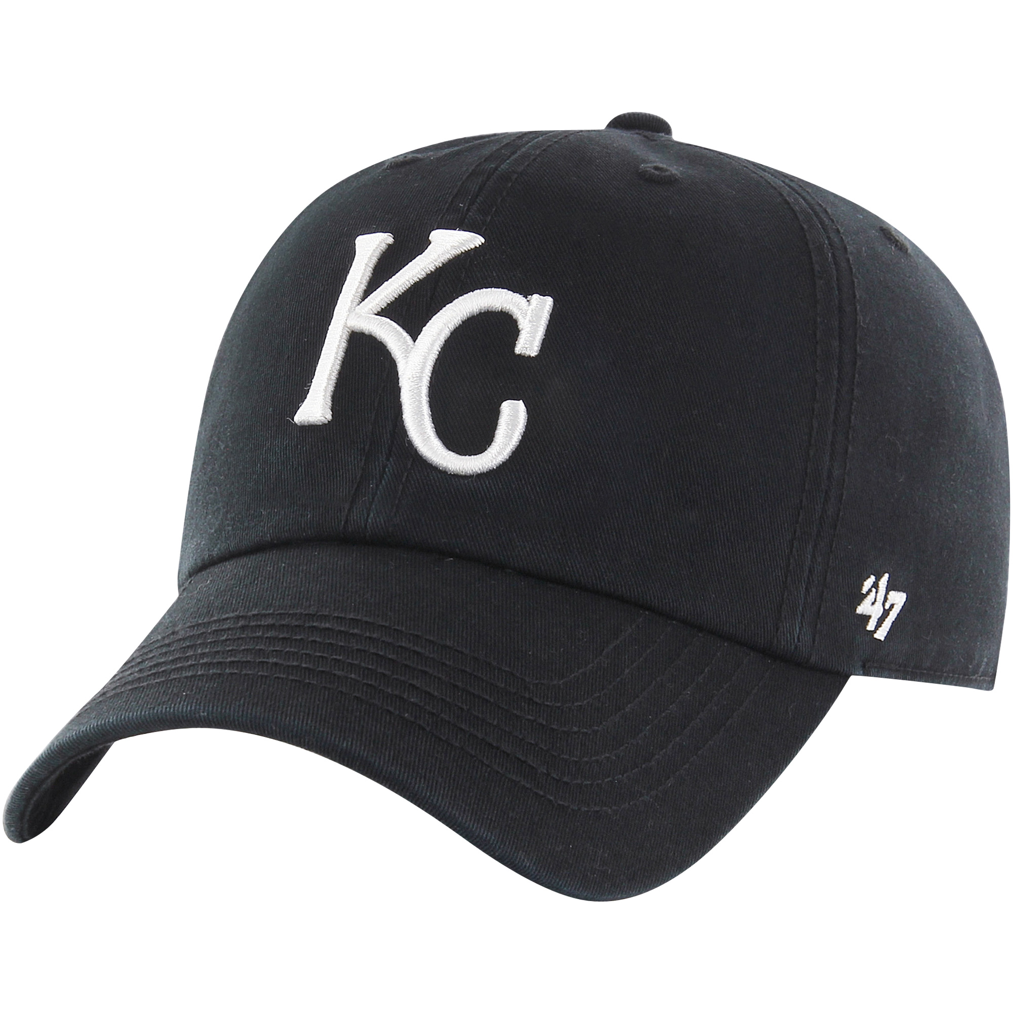 Kansas City Royals '47 Black Out Franchise Fitted Hat - Black