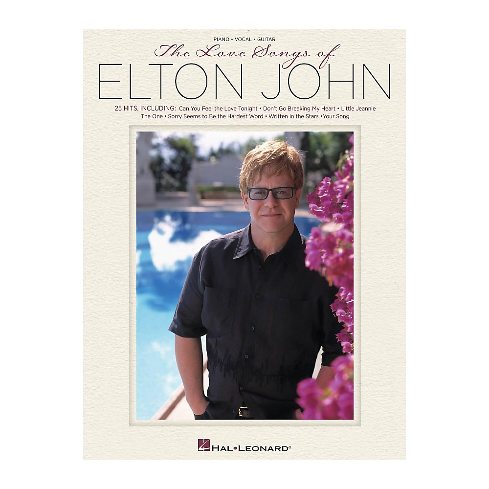 Hal Leonard The Love Songs Of Elton John For Piano/Vocal/Guitar