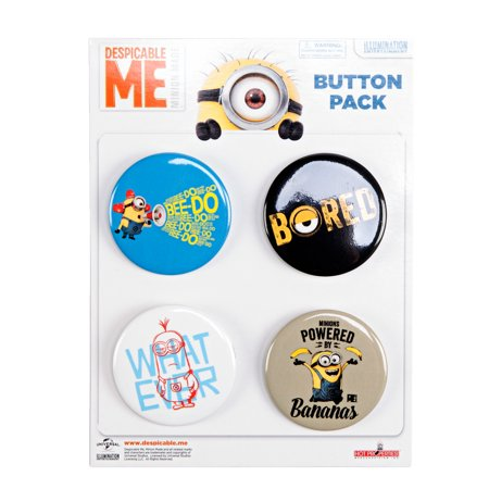 Party Mini Button (Despicable Me Minions Mini Button 4-Pack )