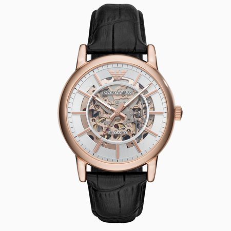 Emporio Armani AR60007 Mens Mechanical Automatic Rose Gold Watch ()