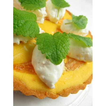 Laminated Poster Lychee Fruit Mango Mint Dessert Tart Cake Poster Print 11 x