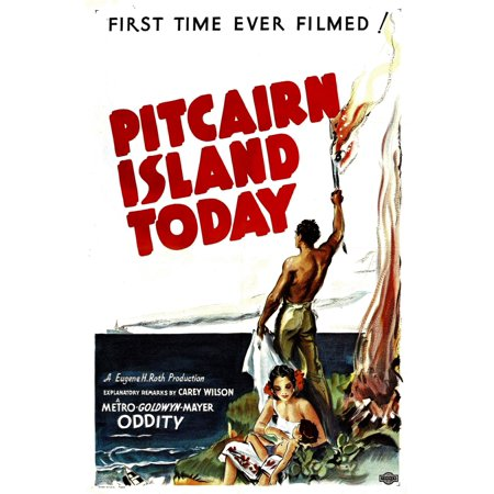 Pitcairn Island Today Canvas Art - (11 x 17)