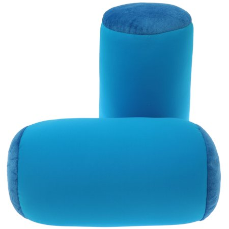 Deluxe Comfort Mooshi Squish Microbead Bed Pillow (14u0022 x 7u0022) ? Airy Squishy Soft Microbeads ? Eighteen Fun Bubbly Colors to Choose From ? Cuddly and Fun Dormroom Accessory ? Bed Pillow, Bright Blue