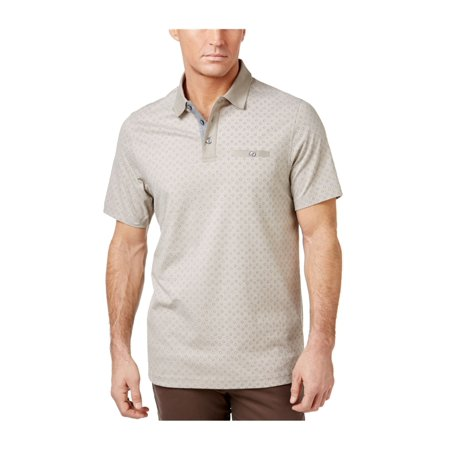 Tasso Elba Mens Birdseye Rugby Polo Shirt pompadourblue S - image 1 of 1
