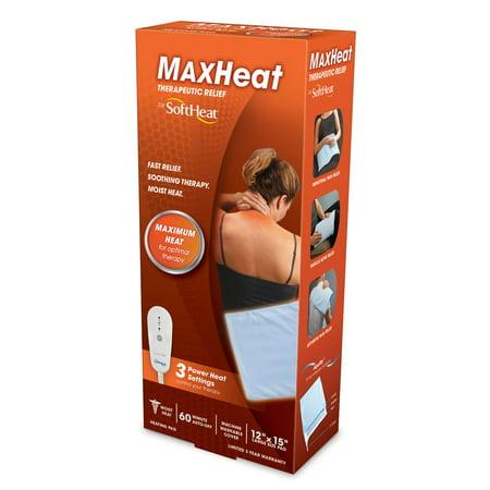 SoftHeat MaxHeat Heating Pad, HP215, Blue - Heating Pans