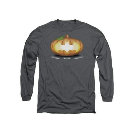 Batman Comic Book Superhero Icon Halloween Jack O'Shield Adult L-Sleeve T-Shirt - Icon Halloween