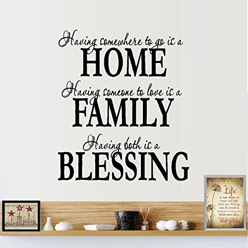 Decal ~ HOME FAMILY BLESSING  ~ WALL DECAL, HOME DECOR