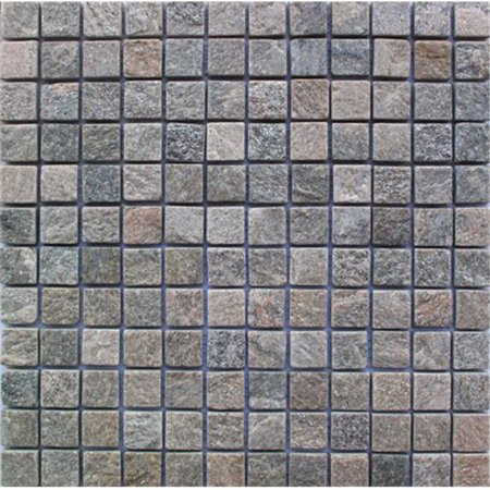 Intrend Tile 1 x 1 Natural Stone Landscape Square Gray Color - Mixed Natural Environment Tile