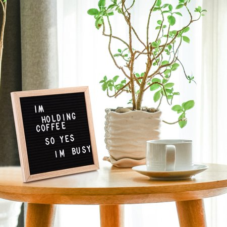 10 x 10 black felt letter boards with 423 letters changeable