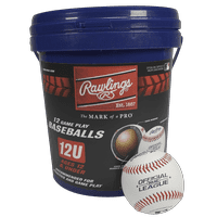 (12 Pack) Rawlings Bucket of 12U Official League ROLB2 Youth Practice Baseballs