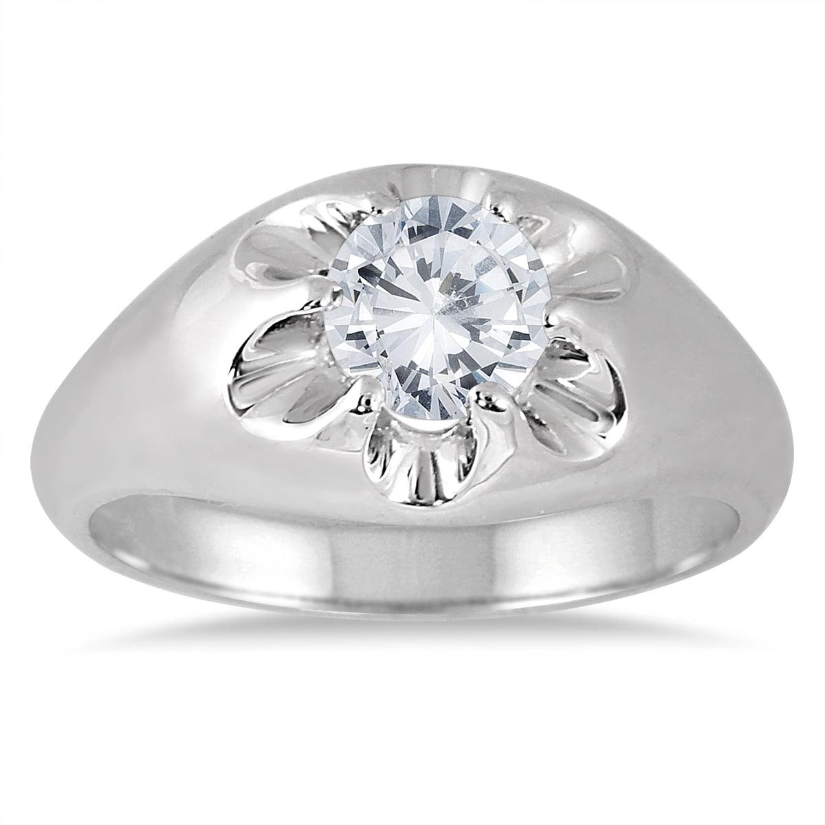 Szul Ags Certified 1 Carat Men S Diamond Solitaire Ring