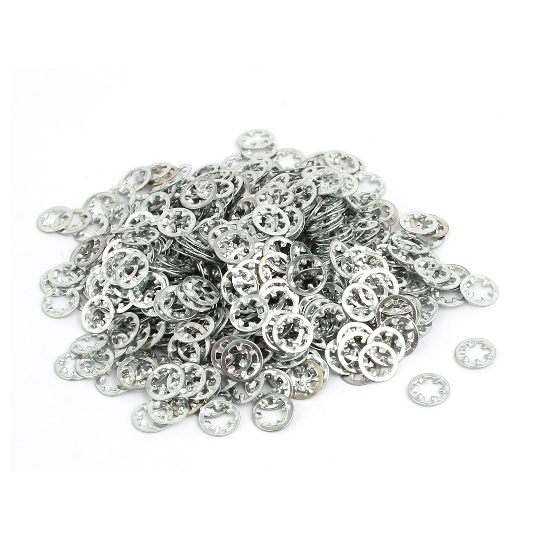 3mm Inner Dia Carbon Steel Zinc Plated Internal Tooth Lock Washer 1000pcs - image 2 of 2