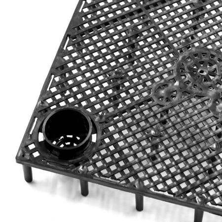 5pcs Plastique Noir Carte Diviseur Séparation Grille Filtration Plaque pour Poisson Tank - image 1 de 3