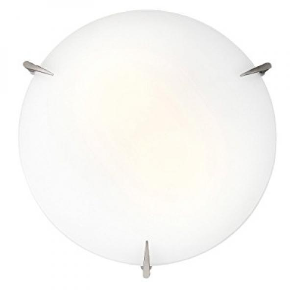 Access Lighting 20661-BS Zenon 2-Light Flush-Mount, Brushed Steel with Opal Glass by Access Lighting