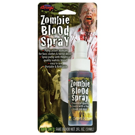 Faux Blood Spray Halloween Makeup by Fun World - Simple Cute Halloween Makeup